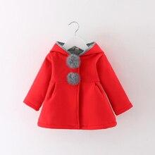 Пальто для новорожденных девочек; осенне-весенняя куртка для малышей; детский кролик длинное ухо; толстовки; хлопковая верхняя одежда; bebe; детская одежда для девочек