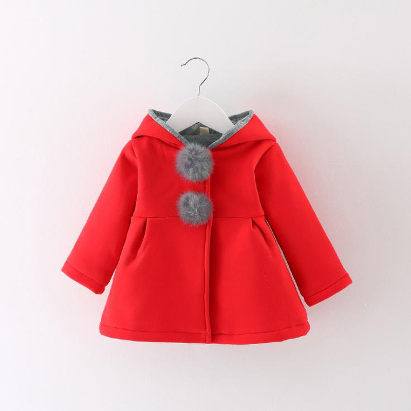 Newborn Girls Coat baby Autumn Spring Jacket Kids Infant rabbit long Ear Hoodies Cotton bebe Outerwear Children Clothes for Girl baby girls spring coat cartoon hello kitty spring and autumn clothes children outerwear girls cotton warm hoodies kids clothes