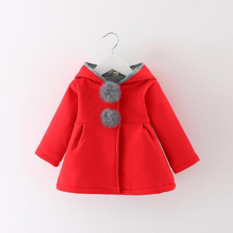 Newborn Girls Coat Baby Autumn Spring Jacket Kids Infant Rabbit Long Ear Hoodies Cotton Bebe Outerwear Children Clothes For Girl