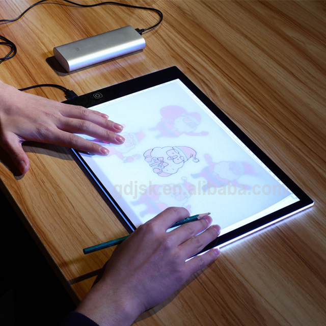 A4 Led Light Pad Stencil Board Tablet Tracing Drawing Board Table
