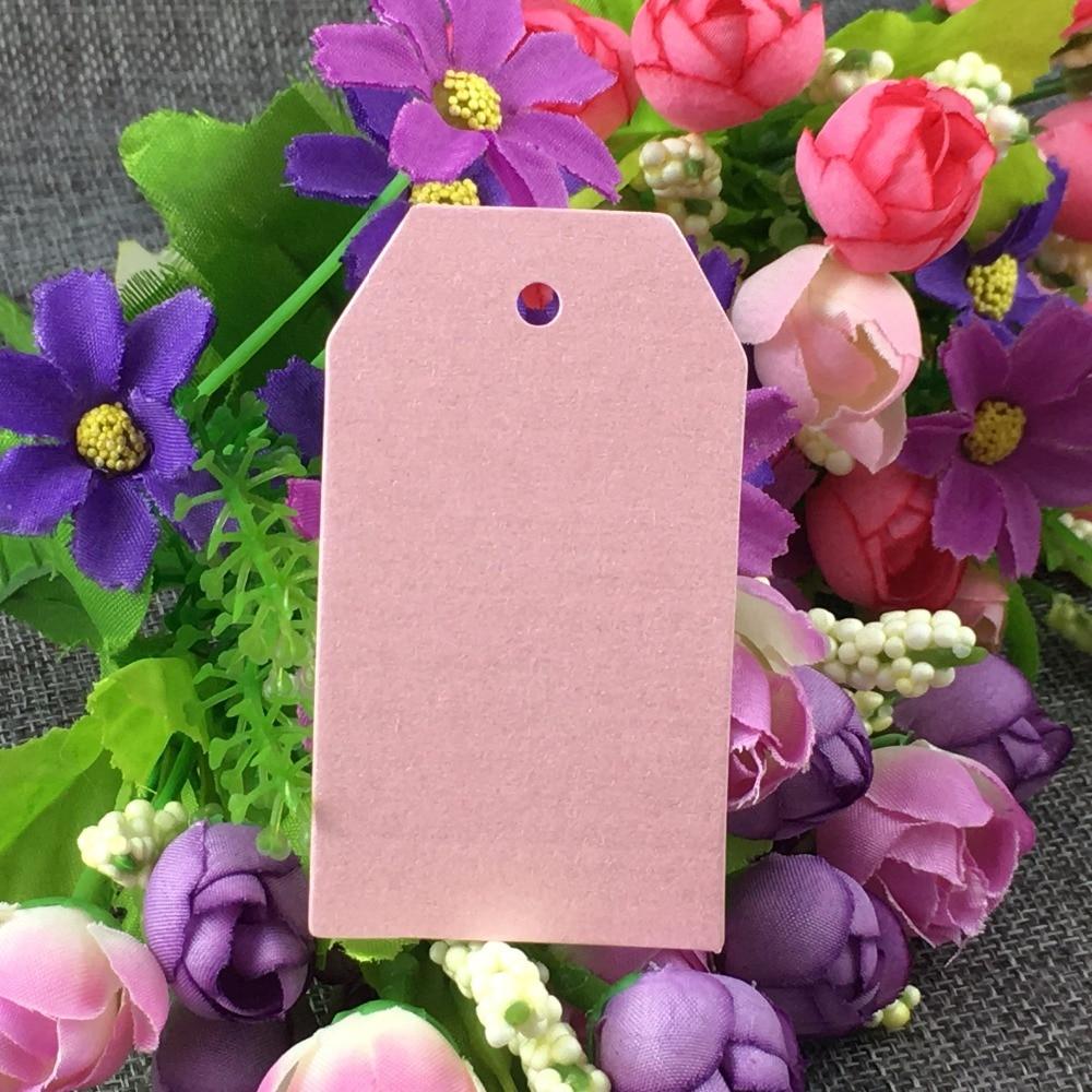 200pcs/lot 8x4cm Blank Gift Tags Label Embellishments Wedding Favors ...