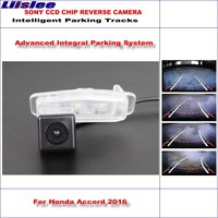 Liislee Rear View Camera For Honda Accord 2016 Intelligent Parking Tracks Reverse / Dynamic Guidance Tragectory / Night Vision