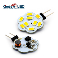KINDOMLED 10Pcs g4 led lamp Bulb Light 9LEDs 2W 3W SMD5630 DC 10-30V Beam angle 180 Round Range Hood Bulb for Boat /Automotive