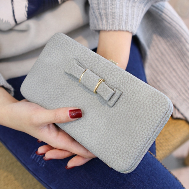 Women Purse and wallet female famous brand card holders cellphone pocket PU leather women money bag clutch women wallet 2