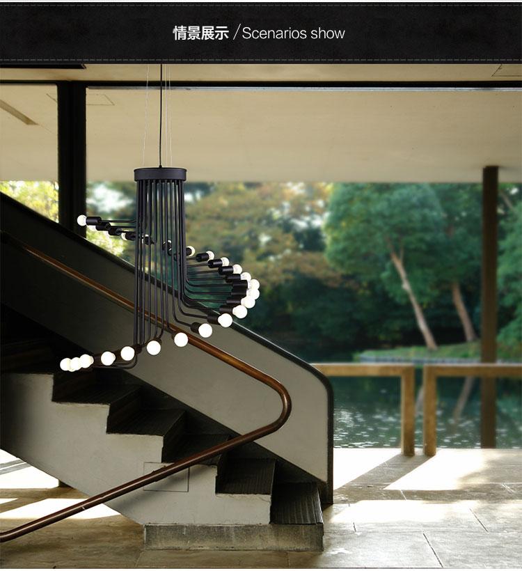 pas de amrica del led loft retro minimalista araa de hierro cafe bar creativa