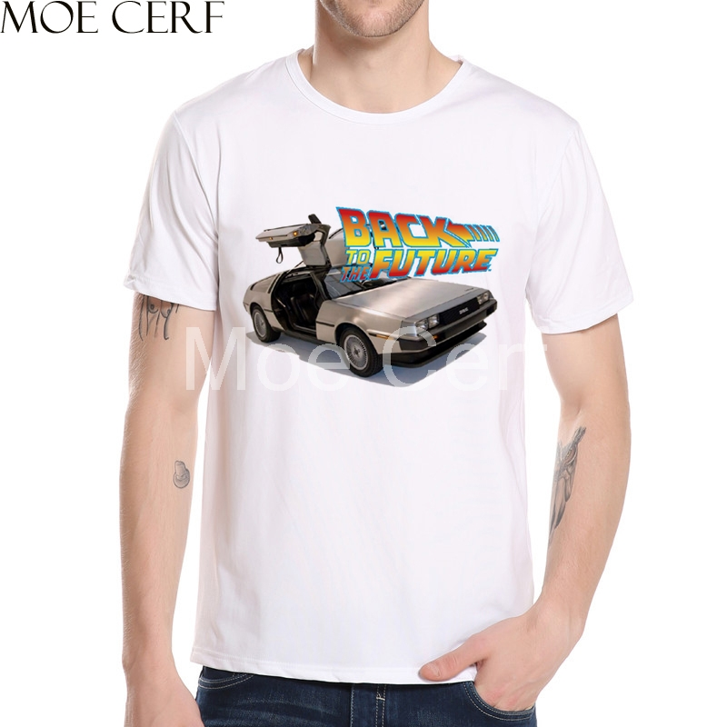 New Arrival Back To The Future DMC DeLorean T Shirt Men 3D Printed T Shirt Summer Fashion Short Sleeve Brand Men Clothing L5-53