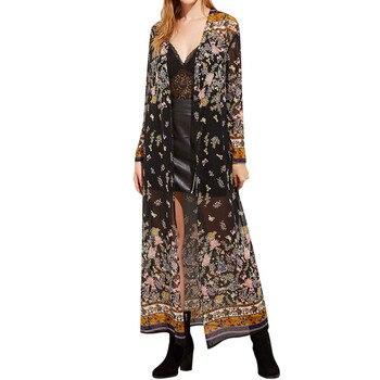 Full-Length Floral Kimono 1