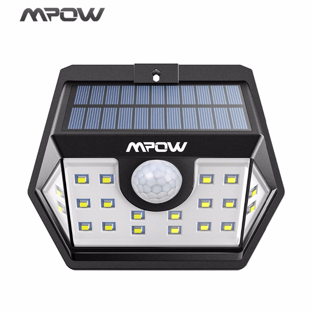Mpow 20 LED Solar Light Super Bright Security Lights Waterproof Lamps With Sensitive PIR Motion Sensor For Garden/Garage/Pathway