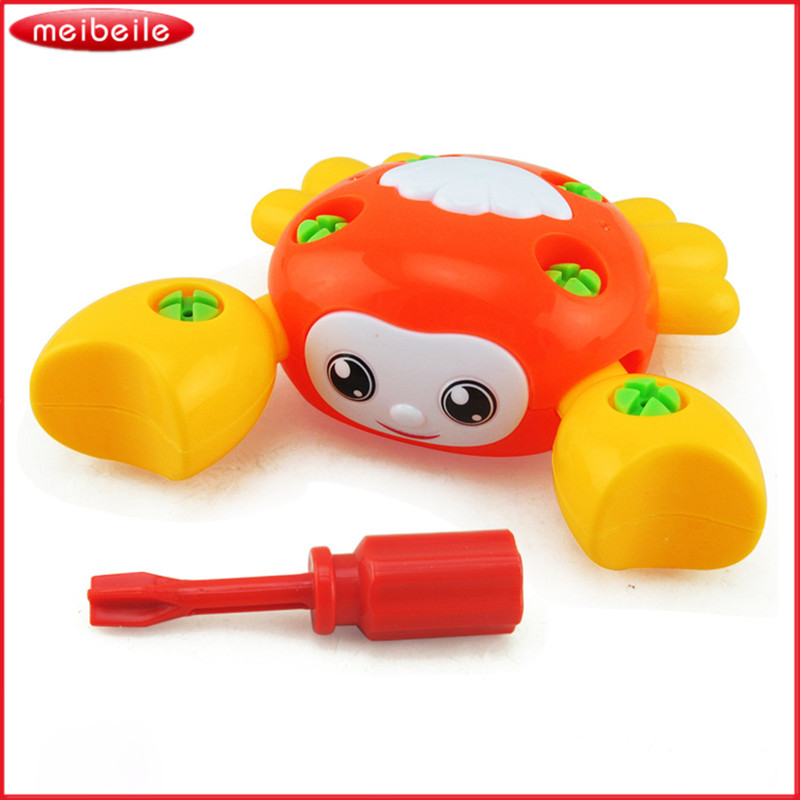 Removable Crab Plastic Assembly Toys Screw Nut Early Learning Cute Colorrful Toy Children Kid Over 3 Years Old