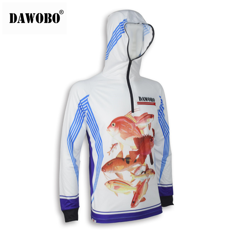 New arrival DAWOBO brand Professional Clothes Fishing Anti UV Anti mosquit Breathable Quick drying homme Fishing Shirt in Hiking Shirts from Sports Entertainment