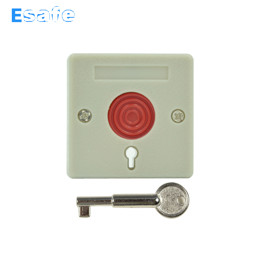 10 PCS NC NO Signal output Options Security Alarm accessories Push Panic Button Fire alarm Emergency Press Switch Free shipping free shipping plastic break glass emergency exit escape life saving switch button fire alarm home safely security red