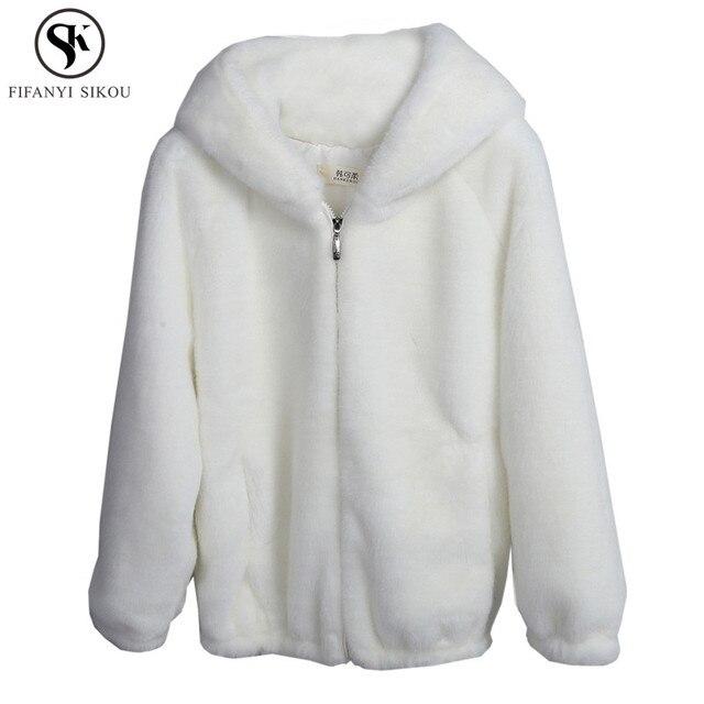 Autumn Winter Women Thicken Hoodies Soft Hairy Zipper Sweatshirt women s  Loose Plus size Coat Casual Warm Hoodie Female LGP756 1af0a600a