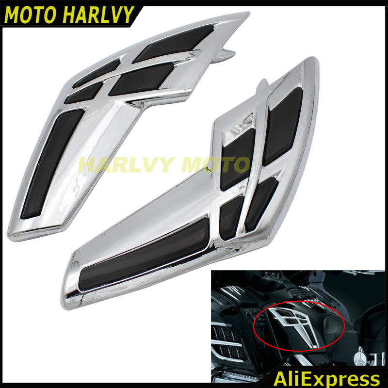 Motorcycle Fairing Tank Trim For Honda Goldwing 1800 GL1800 2001 2011 Motorbike Accessories Part Chrome