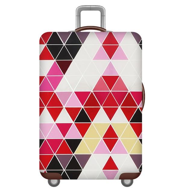HMUNII карта мира, дизайнерский защитный чехол для багажа, Дорожный Чехол для чемодана, эластичные пылезащитные Чехлы для 18-32 дюймов, аксессуары для путешествий - Цвет: Color geometry