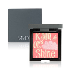 MYBOON  4 Color Matte Makeup Blush bronzer with Mirror Brush Natural Long-lasting Blusher Cosmetic