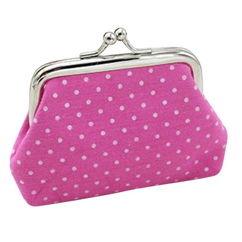 New Women Coin Purse Cute Linen Dot Hasp Small Wallet Bag Change Pouch Key Card Holder Clutch Handbag Dropshipping Wholesale #Y притяжение dvd