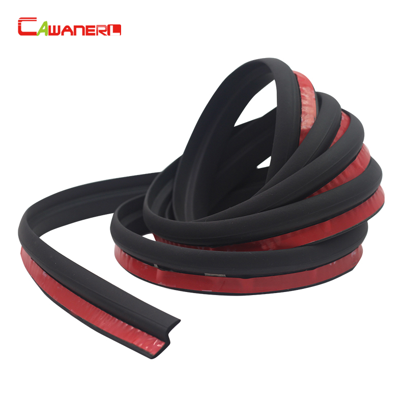 Cawanerl Z-Shape Car Door Rubber Seal Strip Noise Insulation Sealing Strip Weatherstrip Edge Trim Waterproof Self-Adhesive цена