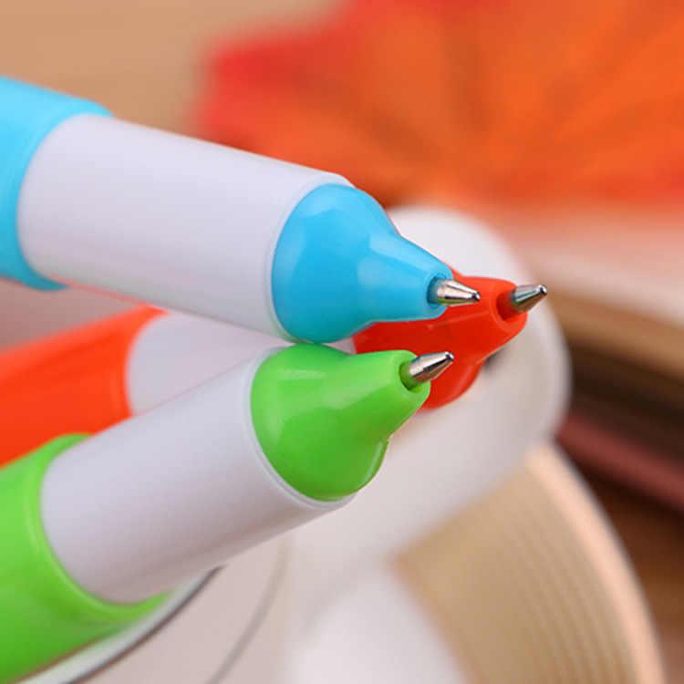 Caneta esferográfica de expressão dos desenhos animados, caneta esferográfica de papelaria e estilo kawaii, 1 peça