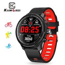 Купить с кэшбэком Kaimorui L5 Smart Watch Men IP68 Waterproof Multiple Sports Mode Heart Rate Monitor Weather Forecast for Android and IOS Phone