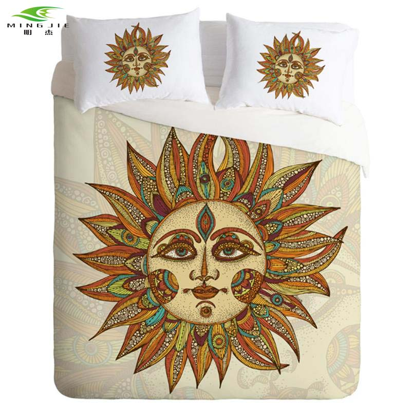 New Design Sun god Printed Bedding Set Home Bedclothes quilt cover 3pcs Twin Full Queen King Size Wholesale