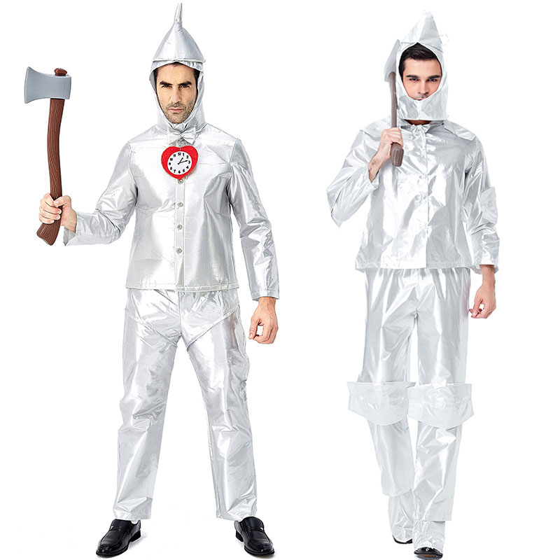 Umorden Adult Mens Wizard of Oz Tin Man Cosplay Costumes Halloween Carnival Purim Mardi Gras Party Outfit in Holidays Costumes from Novelty Special Use