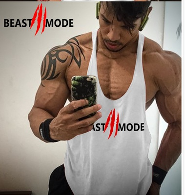 New Arrival Gyms Stringer   Tank     Top   Men Bodybuilding and Fitness Men's Singlets   Tank     Top   Shirts gyms Clothes Sportswear Vest