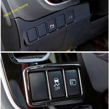 Lapetus передние фары кнопка переключения лампы Панель рамка Крышка отделка 2 шт. для Mitsubishi Outlander 2016-2019 АБС дерево зерна/матовый