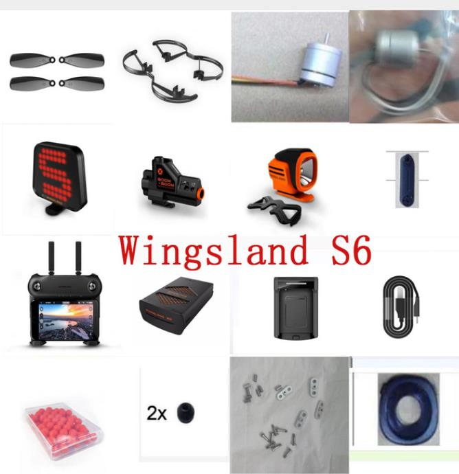 WINGSLAND S6 S 6 UAV Remote Control Quacopter Spare Parts Motor Arm Camera Control Board Shell