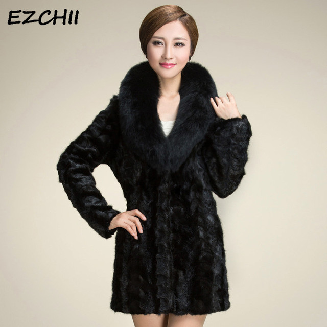 957c34350 US $27.99 20% OFF|Women Black Faux Fur Coat Thicken Warm Jackets Woman  Winter Artificial Fur Coats With Fur Collar Slim Women Clothing Overcoat  -in ...