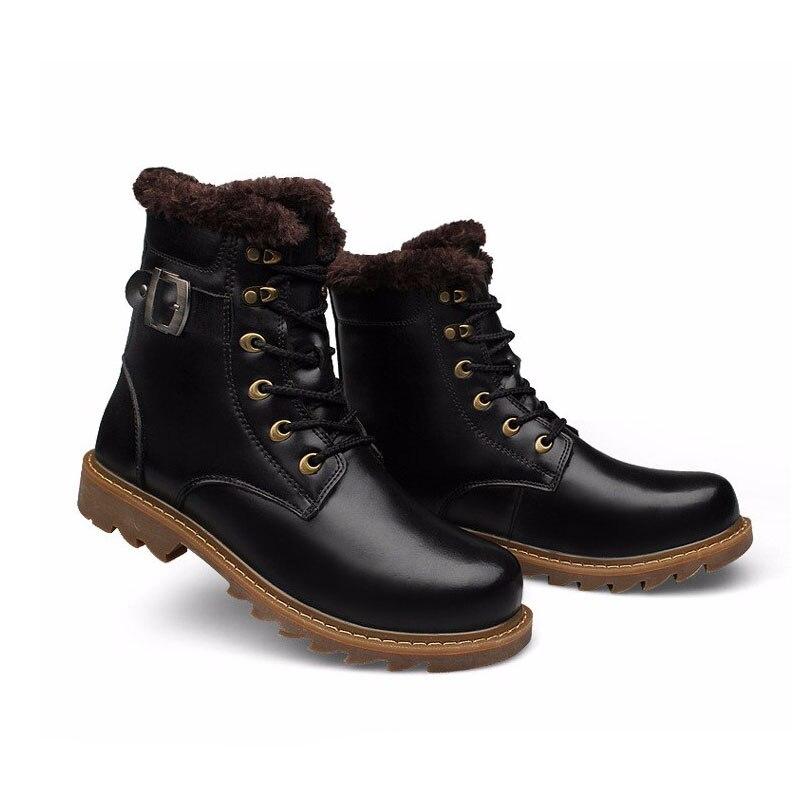 Pele Sapatos Asifn Brown Genuíno Superior Botas Light dark slip Ankle Inverno Homem Couro À preto Mão Masculino Brown Boots Vaca Homens Do De Quente Feitos Com Neve Qualidade Não Sexo qr6rn0Ww