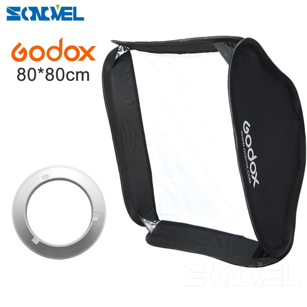 Godox 80 x 80cm 31.5x31.5 Collapsible Flash Softbox Diffuser Bowens Mount for Godox AD600BM 80*80cm цена