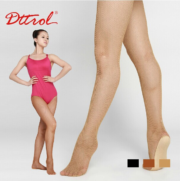 Free Shipping Womens Professional Seamless Dance Fishnet Tights Especially For Latin -9262