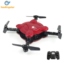 LeadingStar FQ17W Foldable Pocket Drone Quadcopter Dron Wifi FPV Camera 0.3MP 2.4G RC Foldable Remote Control Helicopter Toys