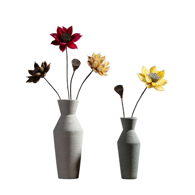 Nordic home ceramic vase set table table flower vase wine cabinet creative decoration filamentator jarrones decorativos moderno 5