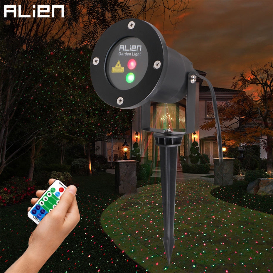 ALIEN Remote RG Laser Project Outdoor Holiday Waterproof Star Laser Lighting Projector Show Landscape Light Party Tree Garden