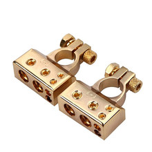 Car  Gold-plated Battery Terminal Positive /negative auto battery Connector Battery Caps Terminal Connector Engine accessories 2 pcs flexible pvc battery terminal covers positive negative insulation boots protector automobile for cars boats and trucks