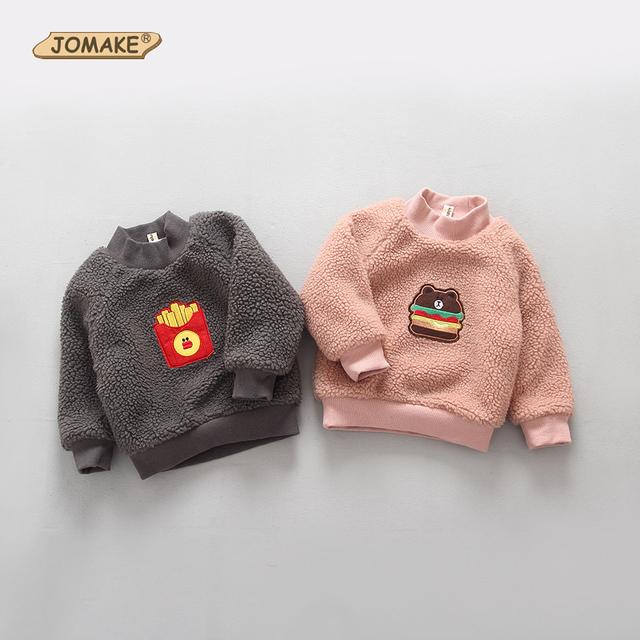 Natal Meninas Meninos Dos Desenhos Animados Quente Hoodies Outono/Inverno Espessamento Top Wear Crianças Pullovers Outerwear Bebê Camisolas de Lã