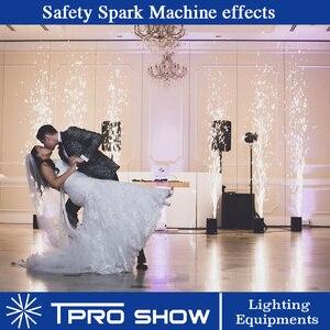 Image 5 - 2 sztuk Spark maszyna 1 skrzynia transportowa pakowanie Dmx pilot zimne fajerwerki Spark fontanna z 10 worek 20 worek Ti proszku na ślub
