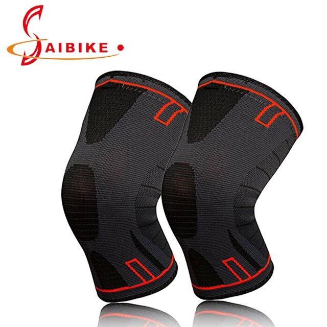 SAIBIKE 1 par de rodilleras, soporte de rodilla para correr, artritis, desgarro de menisco, deportes, almohadillas de recuperación de dolor y lesiones en las articulaciones
