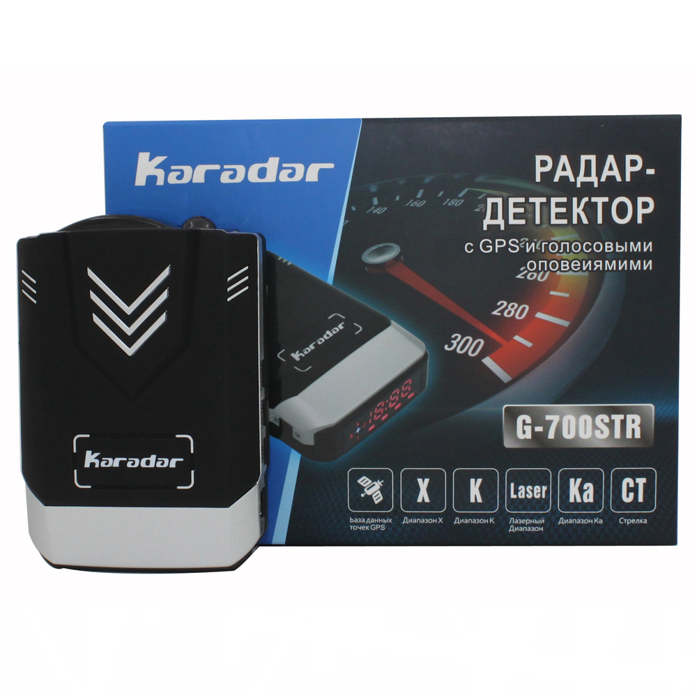 Update Karadar GPS Car-detector 2018 anti car detector radar car styling full band detection laser strelka radar detector