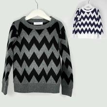 BBK NEW ins Autumn winter child boy sweater Wild striped spherical neck coat cotton geometry Tee Sweaters children wool sweater women C*