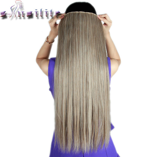 S Noilite 66cm Straight Clip In Full Head Hair Extensions Synthetic