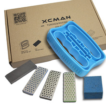 XCMAN Alpine Freeride Snowboard Edge Bevel Tuning Kit Edge Care Kit - أداة تزلج زاوية جانبية + 3 diamonds + Gummi stone