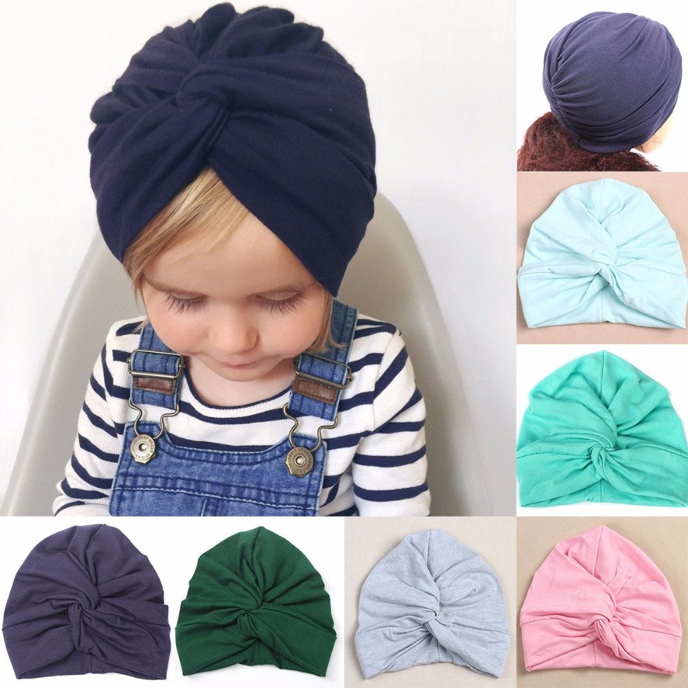 Mother & Kids Humorous Baby Toddler Boys Girls Indian Style Stretchy Solid Turban Hat Hair Head Wrap Cap Latest Technology Accessories