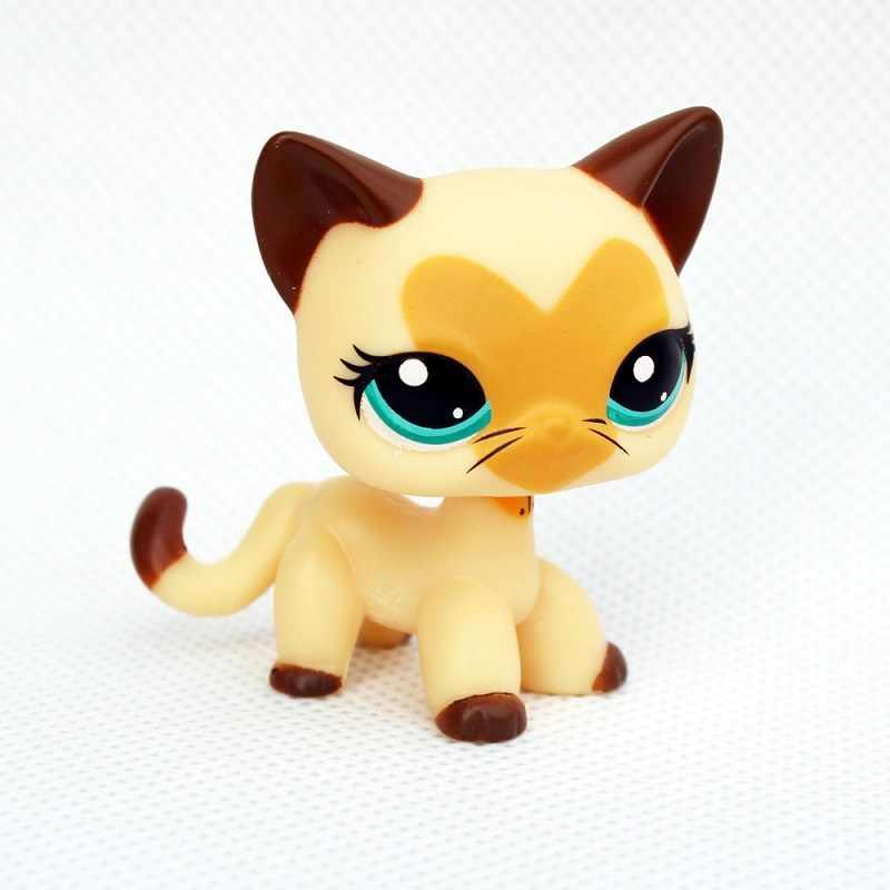 Raro permanente preto gato de cabelo curto #994 branco rosa #2291 amarelo tabby glitter kitty littlest super herói presentes