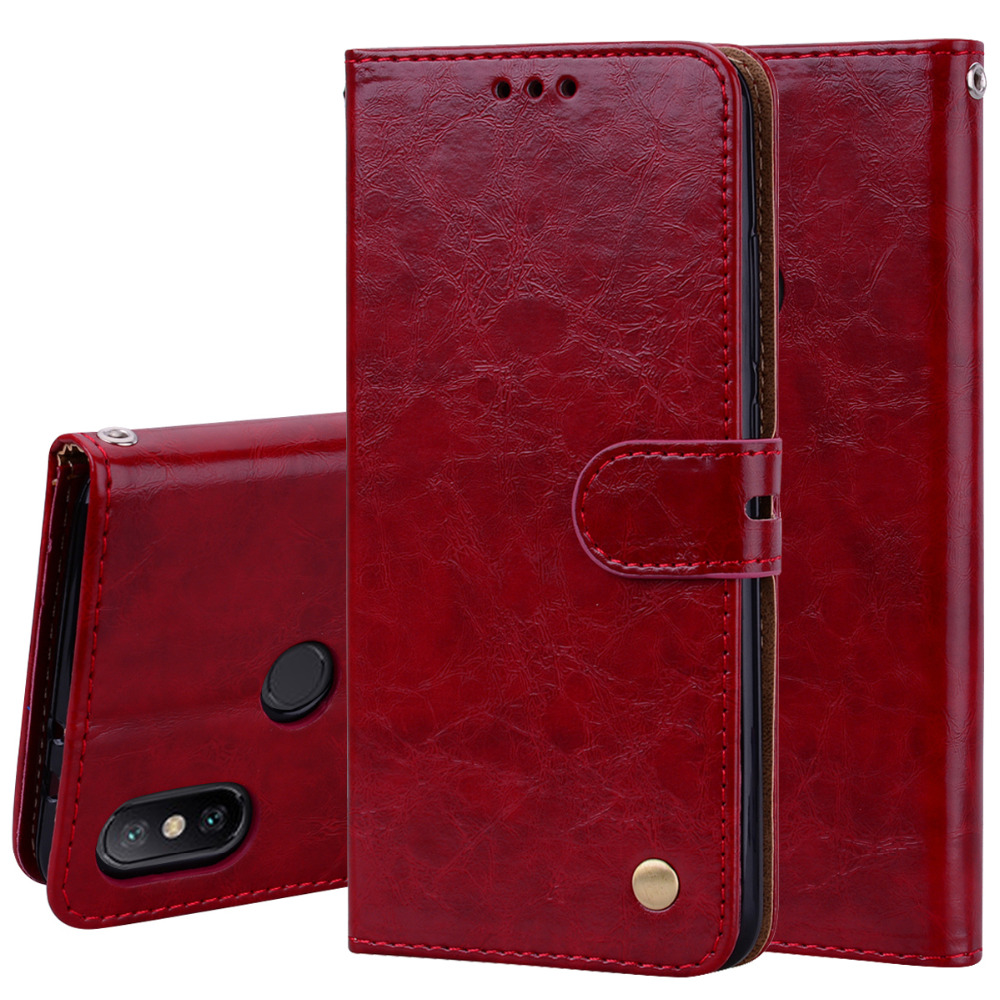 Luxury Oil wax Flip Wallet PU Leather Stand Card Hold Phone Bags for Xiaomi Redmi S2 3s 4X 4A 5 plus Note 5A 5 Pro MI 5X 6X Case