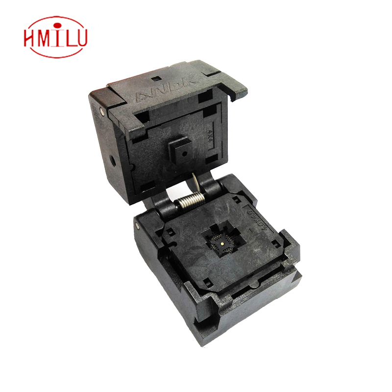 QFN24 MLF24 WLCSP24 Burn in Socket Pin Pitch 0.4mm IC Body Size 4x4mm IC549-0244-016-G Flash Test Socket Adapter