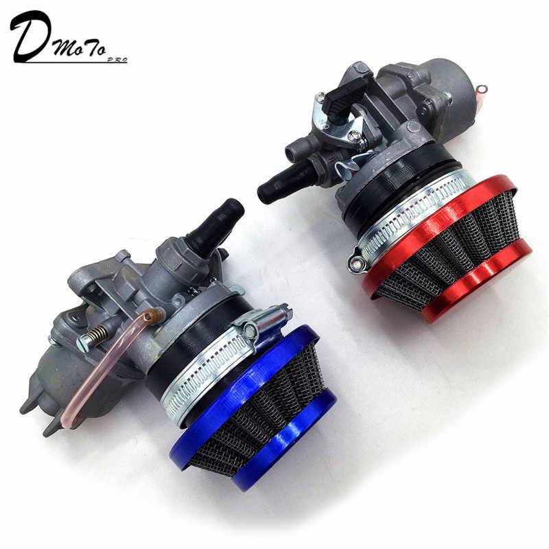 Pocket Bike 47cc 49cc engine carb carburetor with Pod Air Filter  2 stroke for Mini Quad ATV Dirt Bike MiniMoto Go Kart Buggy