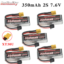 5PCS Infinity Lipo Batteria 350mAh 2S 7.6V 85C FPV Batteria Con Accumulare XT30 XT30U Spina per coperta Da Corsa Drone Giocattolo