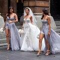Халат Де Mariage Милая Аппликации Из Бисера Свадебные Платья Съемная Поезд Тюль Русалка Свадебные Платья свадебные Платья novia
